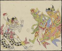 Anoman visits Rama and Laksmana. He is sent by Sugriwa to ask Rama for help