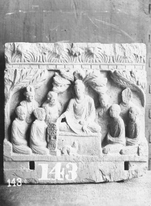First Sermon Of The Buddha Bactro Gandhara Region India Pakistan P 043431 Digital Collections